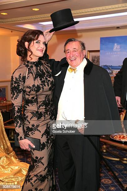 Brooke Shields and Richard Lugner during the Opera Ball Vienna 2016 at Grand Hotel on February 4 2016 in Vienna Austria