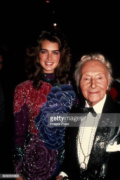 Brooke Shields and Romain de Tirtoff attends the Erte Gallery Exhibition circa 1982 in New York City