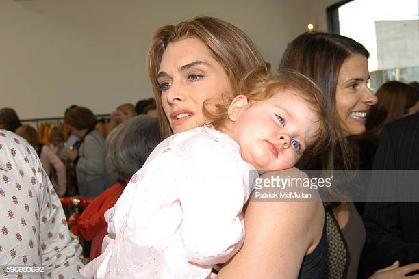 Brooke Shields and Rowan Henchy attend John Varvatos' 3rd Annual Stuart House Charity Benefit at John Varvatos Boutique on March 5 2005 in West...