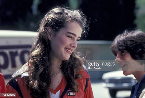 Brooke Shields and Scott Baio during Brooke Shields Photographed at a Taping of 'Celebrity Challenge of the Sexes' at San Antonia College in Pamona...