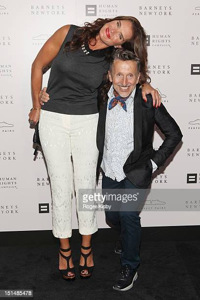 Brooke Shields and Simon Doonan attend Barneys New York Cocktail Party Benefiting Americans For Marriage Equality Program at Barneys New York on...
