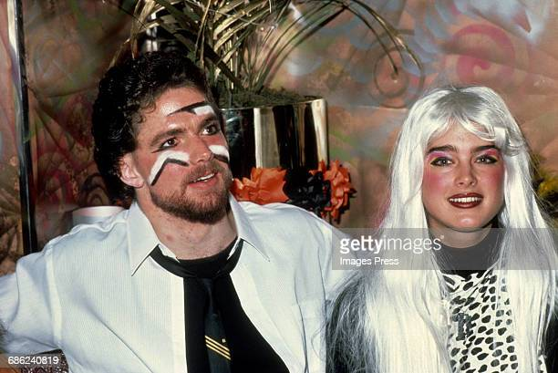 Brooke Shields and Stephen Bianucci attend a costume party at Regine's circa 1981 in New York City