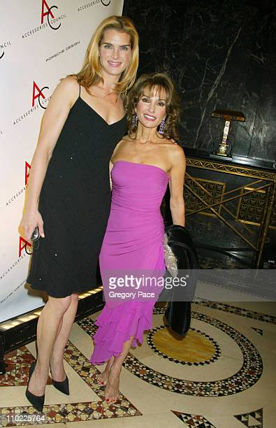 Brooke Shields and Susan Lucci during The Accessories Council Presents the 8th Annual Ace Awards at Cipriani 42nd Street in New York City New York...
