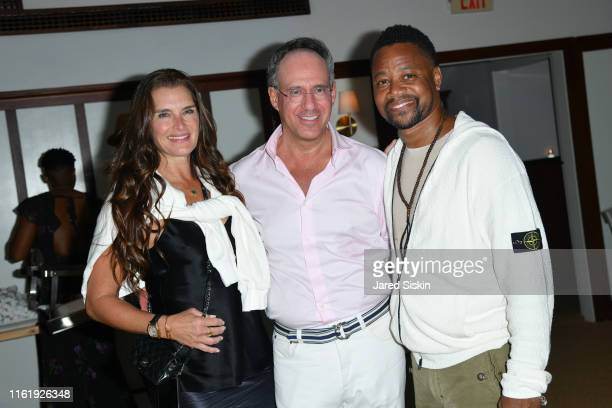 Brooke Shields Andrew Safir and Cuba Gooding Jr attend Sony Pictures Classics The Cinema Society Host A Hamptons After Party For David Crosby...