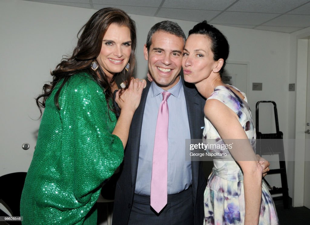 Brooke Shields, Andy Cohen and designer Cynthia Rowley attends the 45th Annual National Magazine Awards at Alice Tully Hall, Lincoln Center on April 22, 2010 in New York City.