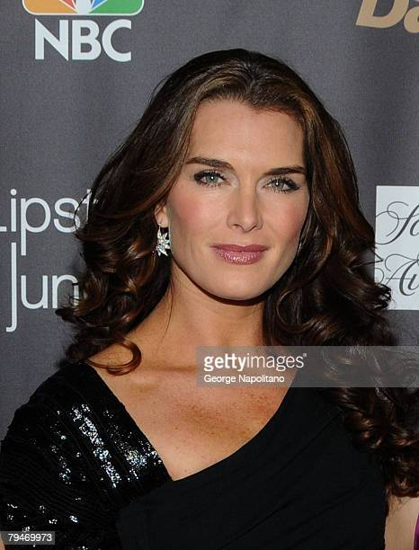 Brooke Shields arrives at the Lipstick Jungle premiere hosted by NBC and Saks Fifth Avenue at Saks Fifth Avenue on January 31 2008 in New York City