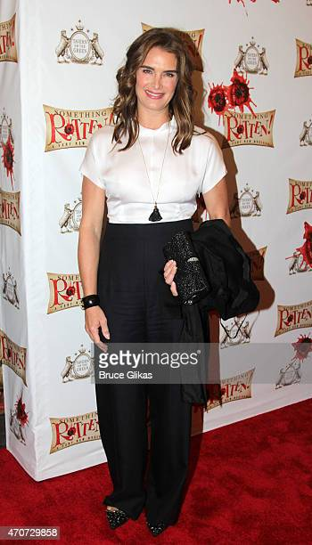 Brooke Shields arrives at the opening night of Something Rotten on Broadway at The St James Theatre on April 22 2015 in New York City