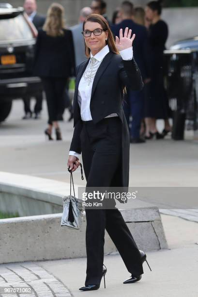 Brooke Shields arrives for the 2018 CFDA Fashion Awards at Brooklyn Museum on June 4 2018 in New York City