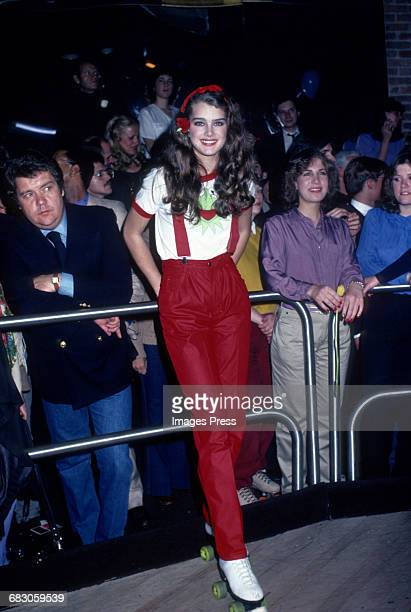 Brooke Shields at a roller disco circa 1980 in New York City.