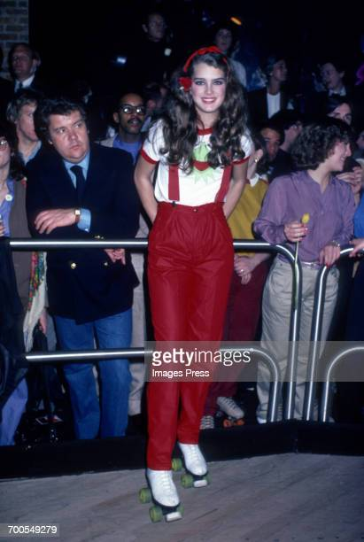 Brooke Shields at a roller disco circa 1980 in New York City