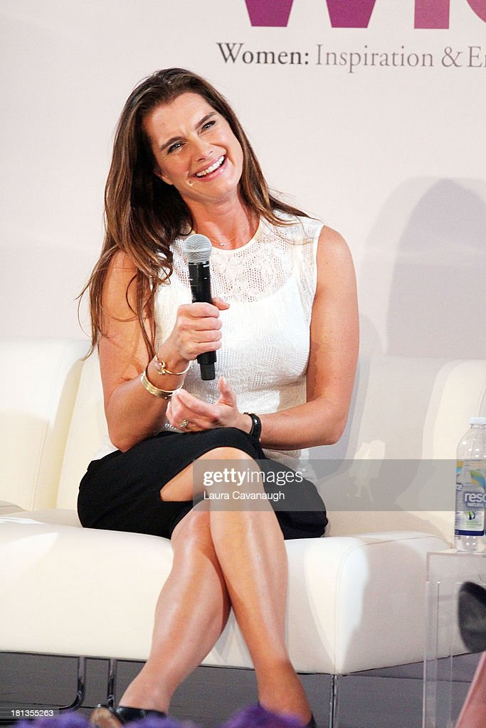 Brooke Shields attends day 1 of the 4th Annual WIE Symposium at Center 548 on September 20, 2013 in New York City.