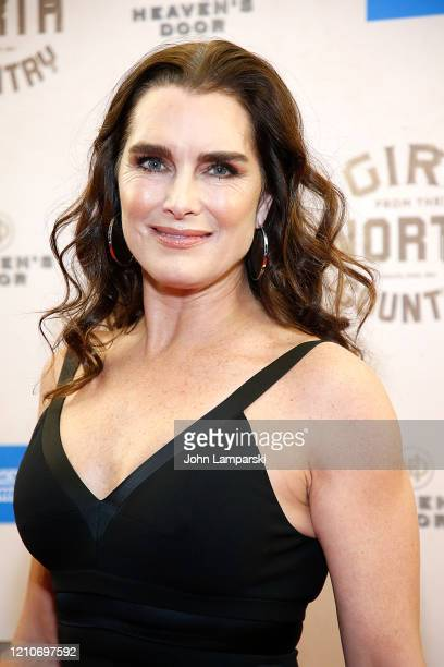 "Brooke Shields attends ""Girl From The North Country"" Broadway opening night at Belasco Theatre on March 05, 2020 in New York City."