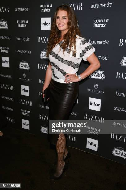 Brooke Shields attends Harper's BAZAAR Celebration of ICONS By Carine Roitfeld at The Plaza Hotel presented by Infor Laura Mercier Stella Artois...