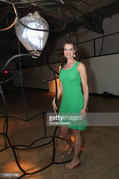 Brooke Shields attends Ippolita's Reliquary Exhibit at Highline Stages on September 7 2011 in New York City
