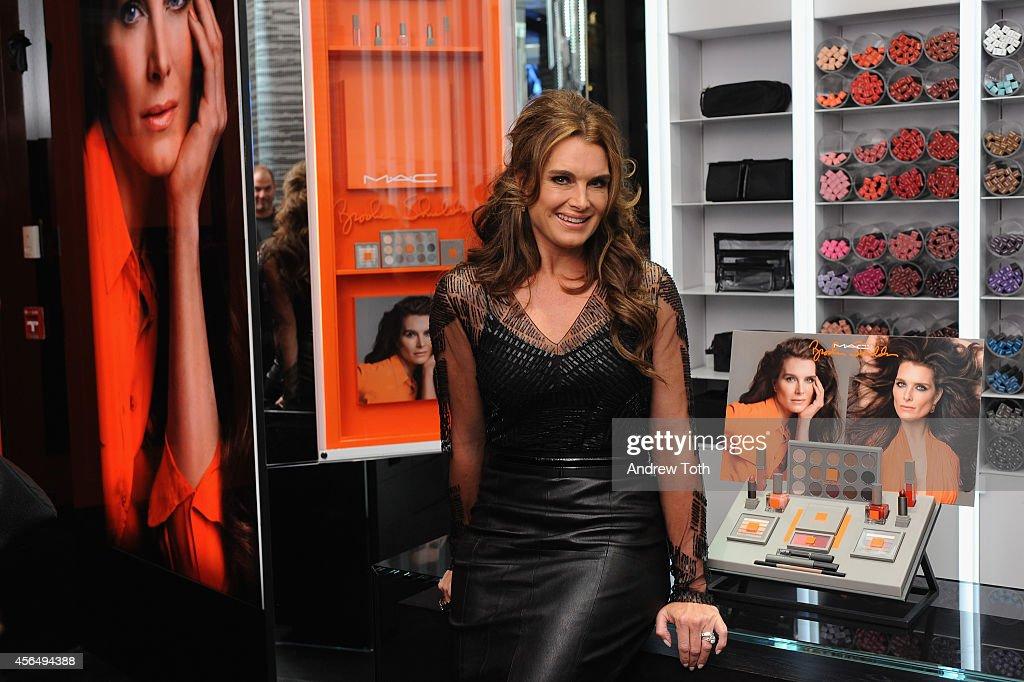 Brooke Shields Attends Mac Cosmetics