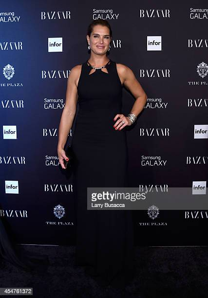 Brooke Shields attends Moet Chandon and Belvedere Vodka Toast to Harper's Bazaar Icons at The Plaza Hotel on September 5 2014 in New York City