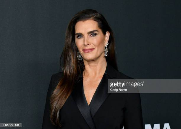 Brooke Shields attends MoMA's Twelfth Annual Film Benefit Presented By CHANEL Honoring Laura Dern on November 12, 2019 in New York City.