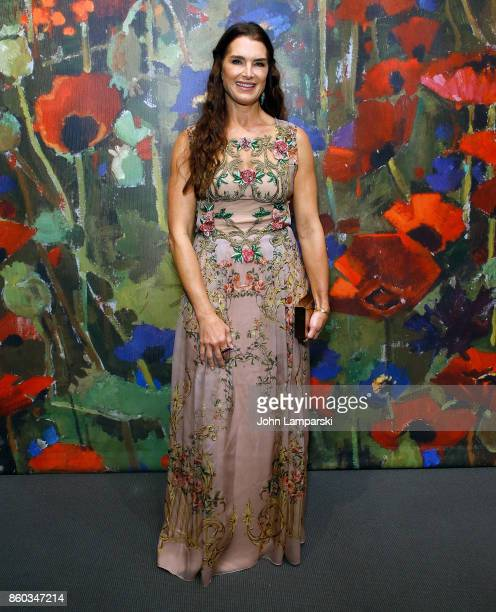 Brooke Shields attends the 2017 Take Home A Nude Art Party and auction at Sotheby's on October 11 2017 in New York City