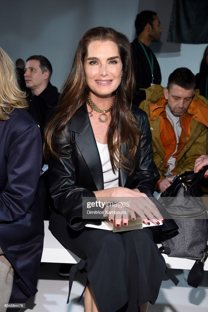 Brooke Shields attends the Calvin Klein Collection Front Row during New York Fashion Week on February 10, 2017 in New York City.