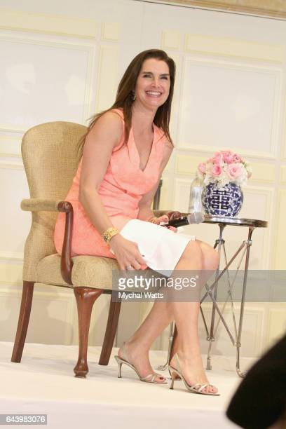 Brooke Shields attends the Cancer Alliance of Help and Hope Spring Luncheon as the Keynote speaker at The Breakers on February 22 2017 in Palm Beach...
