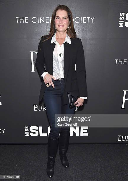 Brooke Shields attends The Cinema Society with Piaget host a screening of EuropaCorp's 'Miss Sloane'at SAGAFTRA Foundation Robin Williams Center on...