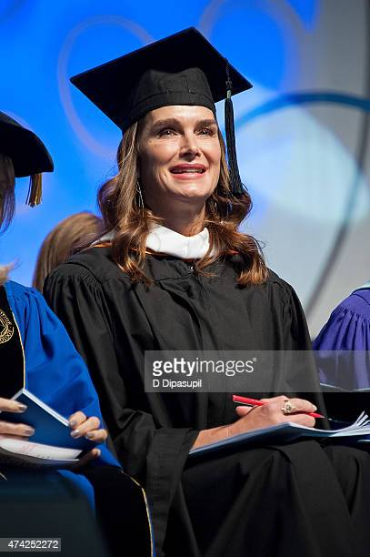 Brooke Shields attends the Fashion Institute of Technology Commencement 2015 at the Jacob K Javits Convention Center on May 21 2015 in New York City