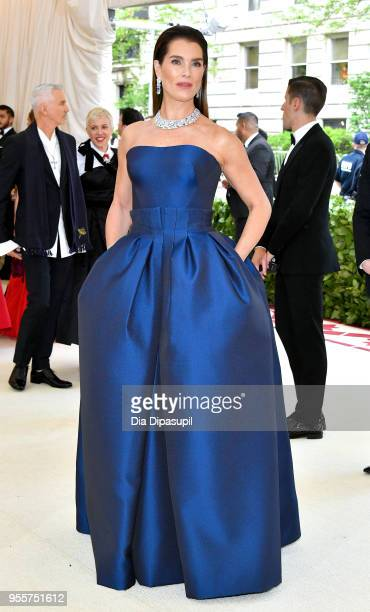 Brooke Shields attends the Heavenly Bodies Fashion The Catholic Imagination Costume Institute Gala at The Metropolitan Museum of Art on May 7 2018 in...