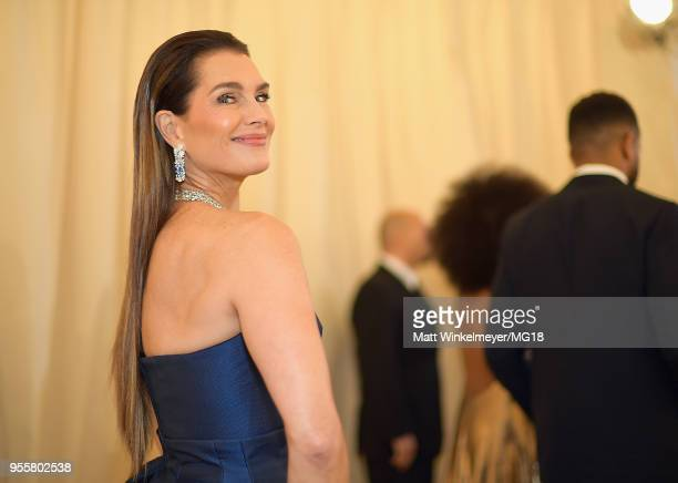 Brooke Shields attends the Heavenly Bodies: Fashion & The Catholic Imagination Costume Institute Gala at The Metropolitan Museum of Art on May 7,...