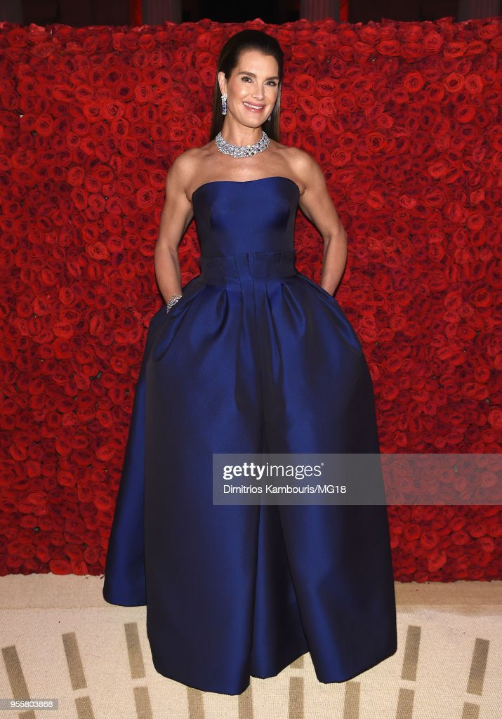 Brooke Shields attends the Heavenly Bodies: Fashion & The Catholic Imagination Costume Institute Gala at The Metropolitan Museum of Art on May 7, 2018 in New York City.