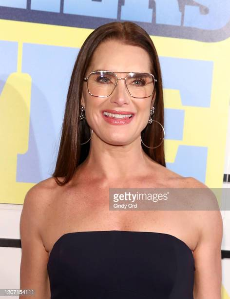 Brooke Shields attends the Impractical Jokers The Movie New York Screening at AMC Lincoln Square Theater on February 18 2020 in New York City