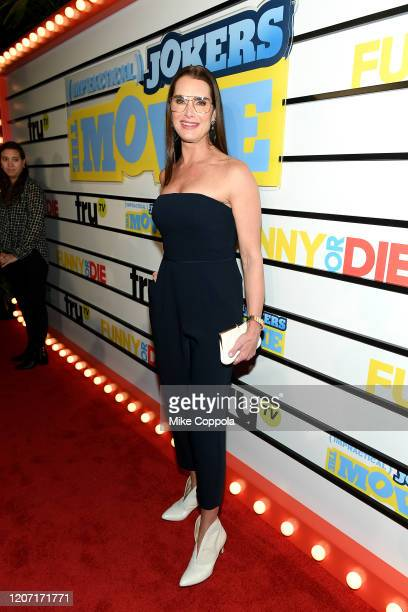 Brooke Shields attends the Impractical Jokers The Movie Premiere Screening and Party on February 18 2020 in New York City 739100