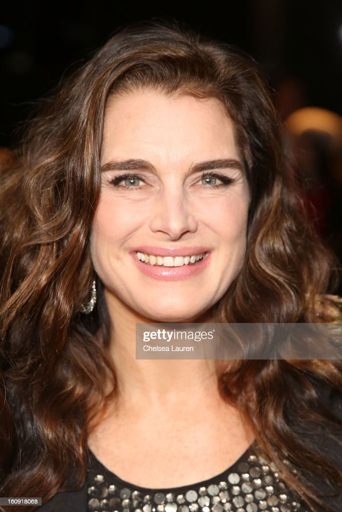 Brooke Shields attends the Kenneth Cole Collection Fall 2013 fashion show during Mercedes-Benz Fashion Week at 537 West 27th Street on February 7, 2013 in New York City.