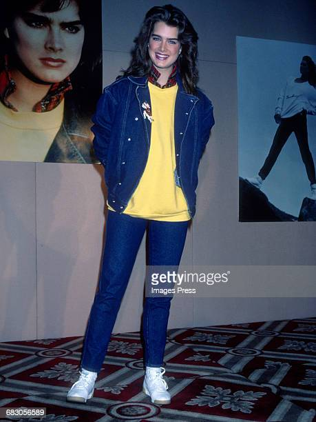Brooke Shields attends the Launch of the Brooke Shields Jeans Collection circa 1985 in New York City.