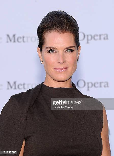 Brooke Shields attends the Metropolitan Opera Season Opening Production Of Eugene Onegin at The Metropolitan Opera House on September 23 2013 in New...