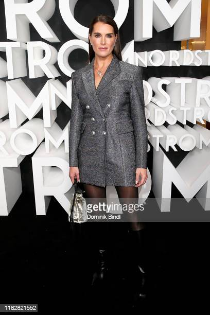 Brooke Shields attends the Nordstrom NYC Flagship Opening Party on on October 22, 2019 in New York City.