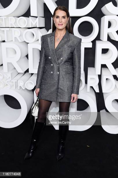 Brooke Shields attends the Nordstrom NYC Flagship Opening Party on October 22 2019 in New York City