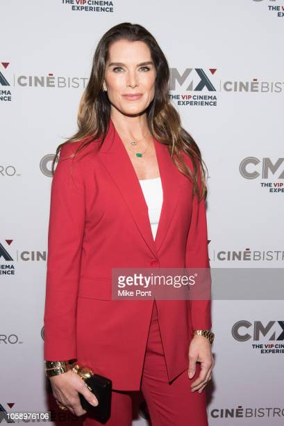"Brooke Shields attends the opening of CMX CineBistro with special screenings of ""BlacKkKlansman,"" ""City Lights,"" & ""Pretty Baby"" at CMX CineBistro on..."