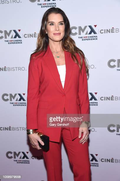 Brooke Shields attends the opening of CMX CineBistro with special screenings of 'Blackkklansman' 'City Lights' and 'Pretty Baby' at CMX CineBistro on...