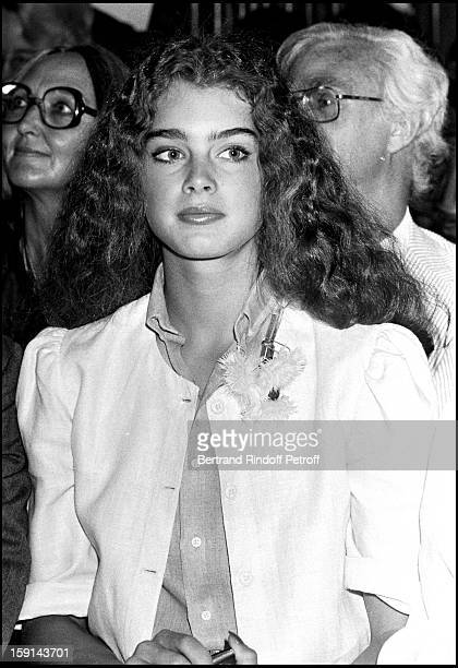 Brooke Shields attends the presentation of Yves Saint Laurent's Fall Winter 1980 1981 fashion collection