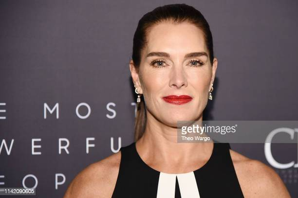 Brooke Shields attends the The Hollywood Reporter's 9th Annual Most Powerful People In Media at The Pool on April 11 2019 in New York City