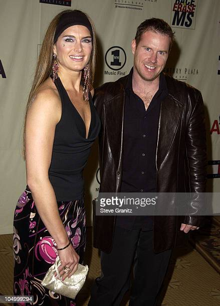 Brooke Shields Chris Henchy during The 9th Annual Race To Erase MS Dinner at Century Plaza in Century City California United States