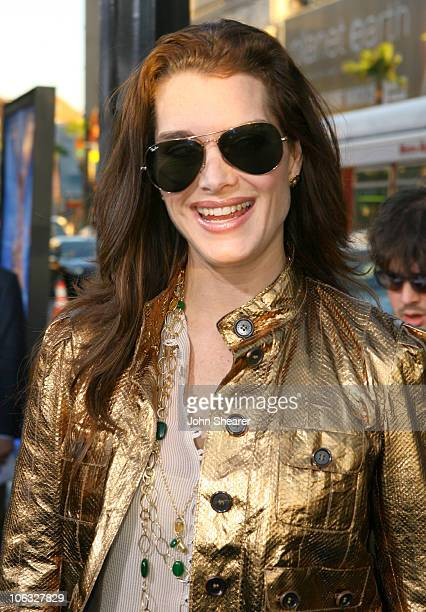 Brooke Shields during Blades of Glory Los Angeles Premiere Red Carpet at Mann's Chinese Theater in Hollywood California United States