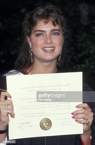 Brooke Shields during Brooke Shields' Graduation at Princeton University in Princeton New Jersey United States