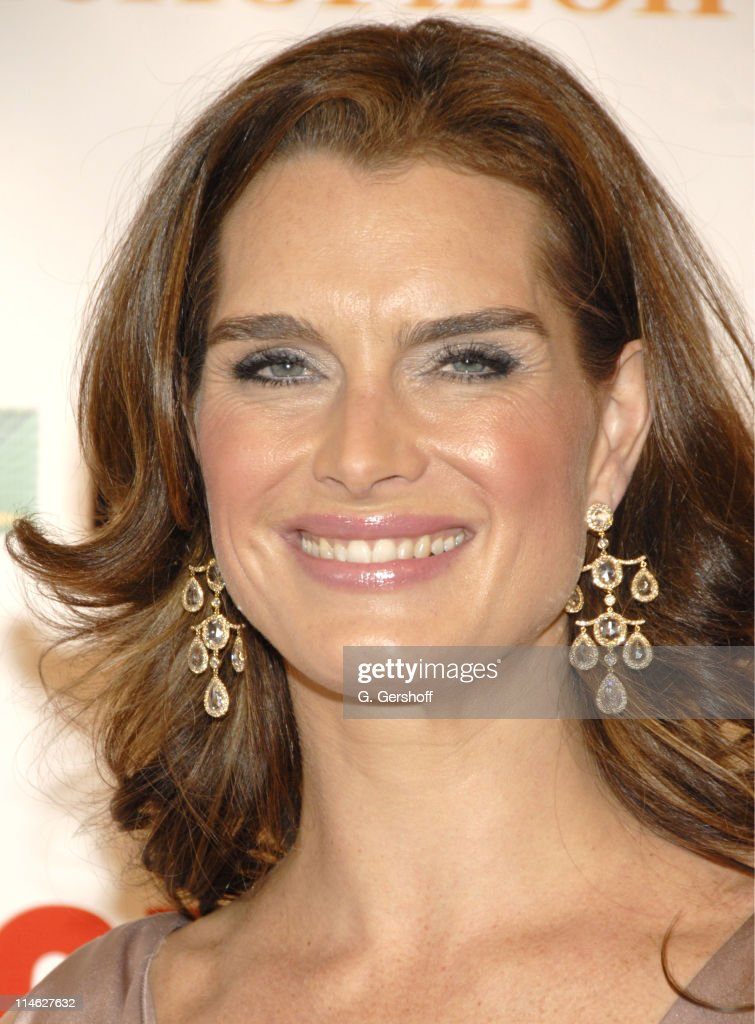 Brooke Shields during Chicago the Musical Celebrates its 10th Anniversary on Broadway - Arrivals at Ambassador Theater in New York City, New York, United States.