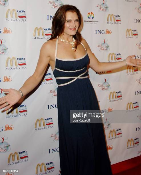 Brooke Shields during Childrens Hospital Los Angeles 2nd Noche de Ninos Gala Honoring Johnny Depp Arrivals at Beverly Hilton Hotel in Beverly Hills...
