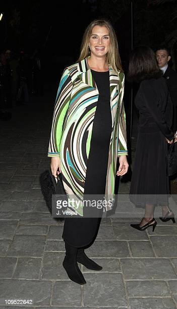 Brooke Shields during Fashion For A Cause Emanuel Ungaro Fashion Show To Benefit Rape Treatment Center at Private Home of Heather Thomas in Santa...