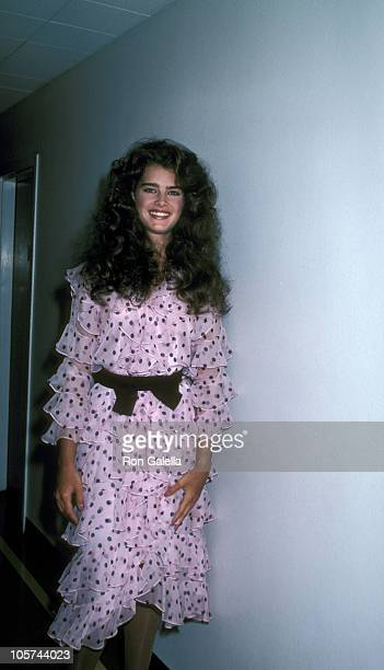 Brooke Shields during Taping of 'Bob Hope's Spring Fling of Glamour and Comedy' at NBCTV Studios in Burbank California United States