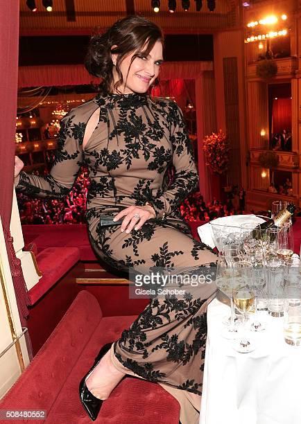 Brooke Shields during the Opera Ball Vienna 2016 at Vienna State Opera on February 4 2016 in Vienna Austria