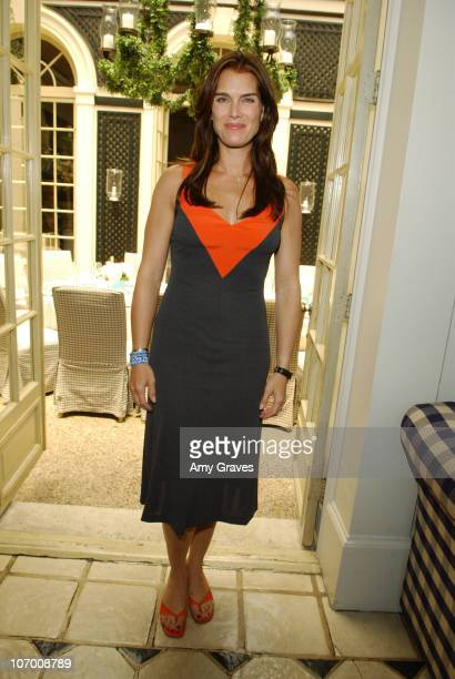 Brooke Shields during Unlocked Secret Luncheon at L'Orangerie in Beverly Hills CA United States