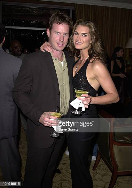 Brooke Shields Fiance during The 28th Annual American Music Awards Arista Records After Party at St Regis Hotel in Century City California United...